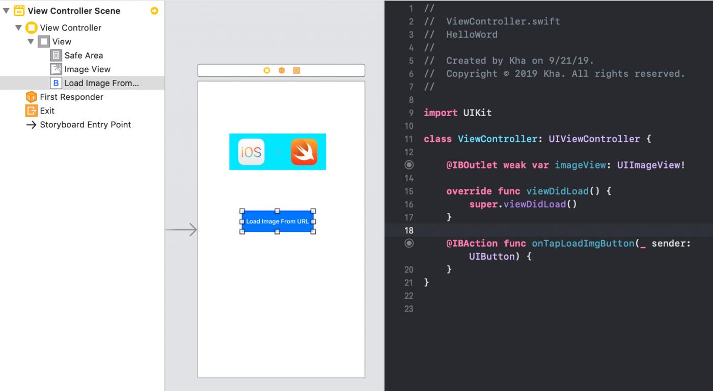 Thiết kế màn hình load ảnh từ URL