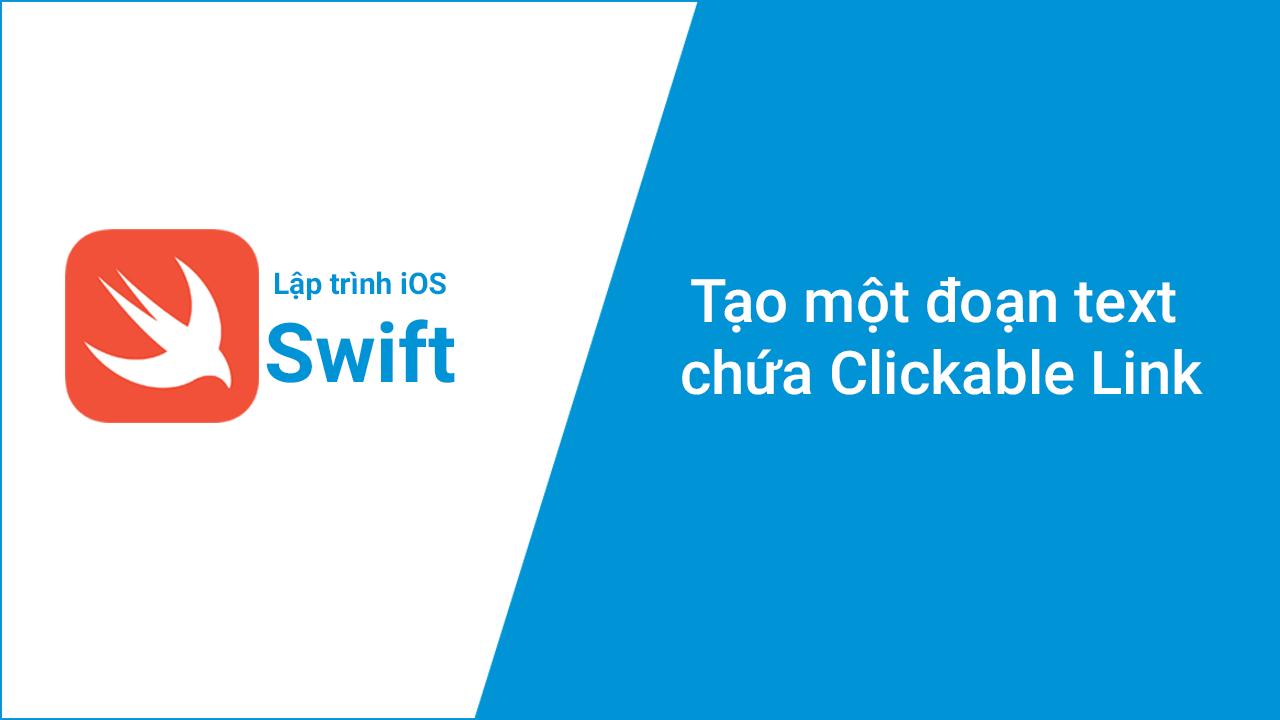 Tạo một đoạn text chứa Clickable Link