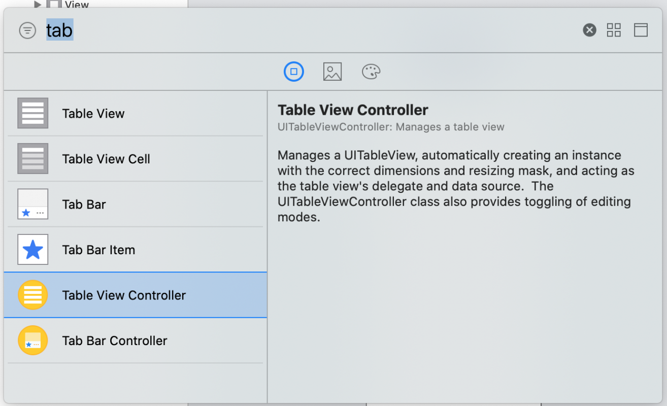 TableViewController